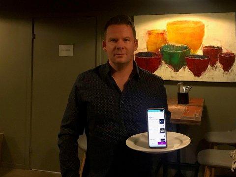 BESTILLINGSLØSNING: Terje Nygård fra Gjøvik er primus motor for en nyutviklet nett-tjeneste for restaurantbransjen.