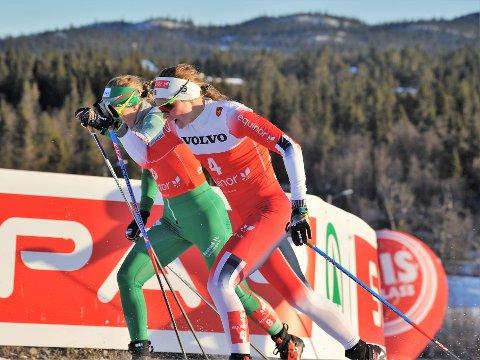 FULL GASS: Mathilde Skjærdalen Myhrvold imponerte med fjerdeplass i sesongedebuten på Beitostølen.