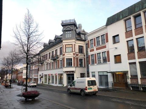BYGGER LEILIGHETER: Morten Hagen ønsker  bygge leiligheter i de to øverste etasjene i Quammegåden i Gjøvik sentrum.