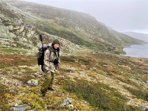 HJEMMEKONTOR UTE: Anne Cecilie Lund-Andersen fra Raufoss har alltid har vært glad i å være ute i naturen, og interessen ble ikke mindre da hun begynte å jakte.