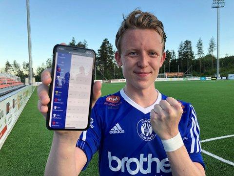 Henrik Langaas kunne legge inn årets første scoring på statistikken etter vinterserieoppgjøret mot Vardal.