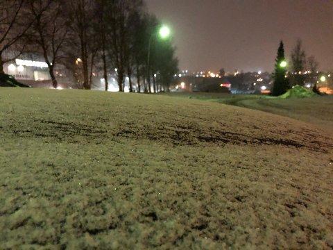 LAVET NED: Natt til onsdag snødde det, men hvis du er gira på mye snø må du fortsatt vente.