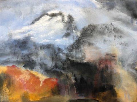 Utsnitt av maleri av Bjørnhild Krogh Thorsbakken