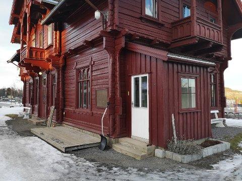 LOKALER: Her på Skreia stasjon holdt butikken til i 13 år.