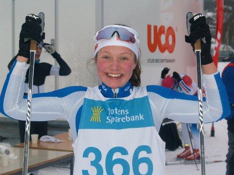 TOER: Hedda Bakkemo fra NTG-L/ Gjøvik Skiklubb ble nummer to i klassen for kvinner 19/20 år etter Karoline Grøtting fra NTG-L/ Hernes.