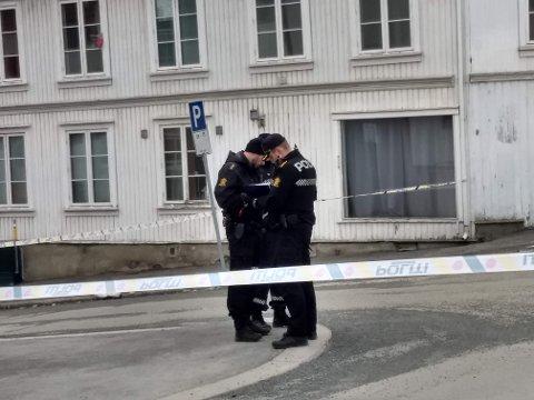 SKOLEGATA: Drapet skjedde i skolegata i Gjøvik. Mannen kom fra Tyskland og familien der er nå varslet.