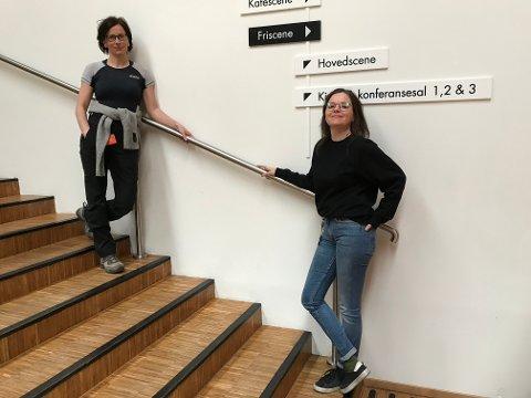VELKOMMEN INN: Unni Heimdal (t.v.) og Elin Dotseth ved Gøvik kultursenter ønsker streamingsugne velkommen i hus!