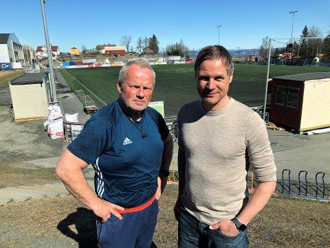 Ketil Gjerde (t.v) i Vind IL og Geir Langedrag i SK Gjøvik-Lyn har rundt mangler til sammen innbetalinger av trenings- og medlemsavgifter på 750.000 kroner.