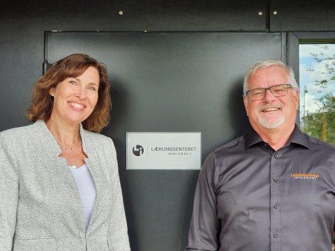 KAMPANJESTART: Marianne Stepperud Antonsen og Knut Arne Tørud ved Lærlingsenteret Innlandet vil veldig gjerne ha flere lærebedrifter.