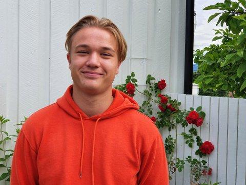 FIKK PLASS: Harald Haanes Strandlie (16) fikk skoleplass ved Gjøvik videregående skole. Kampen om plassene er hard, og poengkravet er skyhøyt.