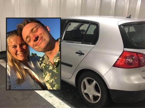 ENDT FERIETUR: Hanna Hauan og kjæresten Arne Inge Solgard ble møtt av knust rute, og en forsvunnet bag og PC.