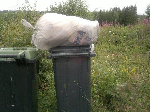 Søppeldunken til Elin Beate Pettersen skulle vært tømt 3. juli.