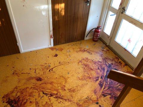 GANGEN: Slik så det ut i gangen hvor mishandlingen skjedde.