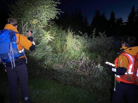 STOR LETEAKSJON: Det var frivillige som fant den savnede mannen, opplyser politiet.