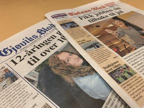 RAMMET: Totens Blad er en av avisene som er rammet etter dataangrepet mot Hamar Media.