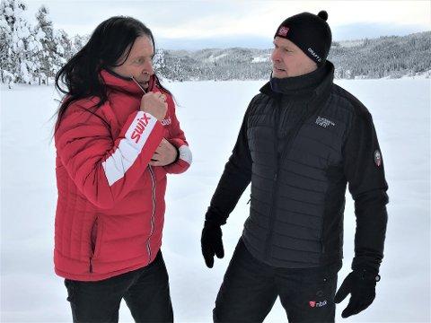 HJEMMELIG: Ingar Amlien (t.v.) og Arve Heimdal får like mye ut av en kjapp tur i vinteridyllen på Osbakken som lengre overnattingsturer.