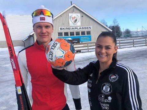 TALENTER: Mathias Indrelid Haugen og Marte Laeskogen er to av Skreias største idrettstalenter. Skader og sykdom har gitt dem noen utfordringer.