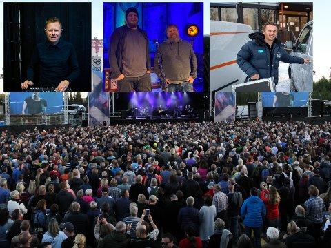 NYE TIDER: De typiske lyd- og lysteknikerne har omfavnet den nye tida. Rune Seim (f.v.) Stig Enger, Lars Gunnar Sveum og Amund Kvernvold har alle tatt streaming inn i porteføljen.