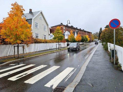 FLEST PARKERINGSBØTER: Gjøvik kommune delte  ut 110 parkeringsbøter i Kyrre Grepps gate første halvår i år.