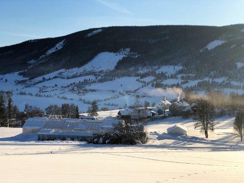 HUSKER DU?: I januar 1979 ble det målt under 36 minus her på Løken i Volbu i Valdres. Nede ved fjorden ble det registrert nærmere 50 minusgrader denne iskalde nyttårsnatta. FOTO: INGVAR SKATTEBU