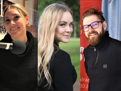 PRATEGLADE: Det kommer garantert til å bli moro når Angelina Amlien, Aurora Amalie Heimdal og Stian Olafsen benker seg ned for å se MGP-finalen på oa.no