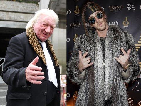 KARER MED PELS: Både Arnulf Paulsen og TIX er glad i pels, og begge skal i aksjon på scena 22. mai. Høgger'n på Hovdetoppen i Gjøvik, mens TIX er norges bidrag i Eurovision Song Contest i Rotterdam.