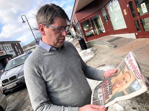 KRITISK: Ordfører Ola Tore Dokken mener at OAs førsteside og hovedoppslag mandag kan være brudd på Vær varsom-plakaten. FOTO: INGVAR SKATTEBU