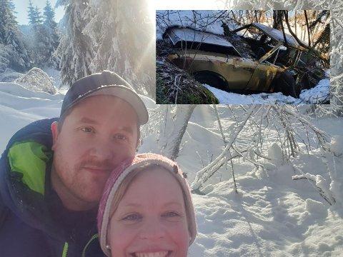 VRAK I VEIEN: En håndfull bilvrak skjemmer litt for Hildegunn Brøste og Fredrik Kogstads småbruksdrøm, men når snøen smelter skal bilene fjernes og dyrene få fritt spillerom.