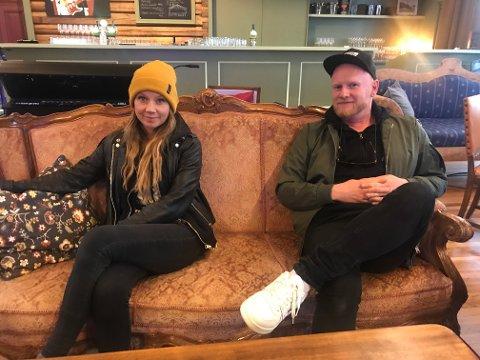 LADET OPP TIL KONSERT: Maria Solheim og Lewi Bergrud inviterte til konsert på Gjøvik lørdag kveld.