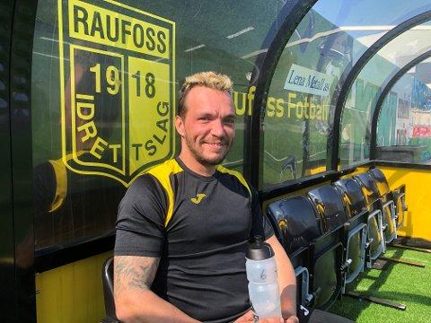 FORNØYD: Andrè Jørgensen var strålende fornøyd med første trening for det nystiftede gatelaget til Raufoss.