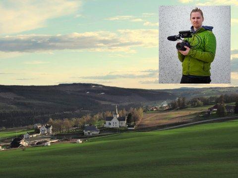 HJEMBYGDA: Vardal er naturligvis dokumentert i  Bjørn Filip Kjeldsen Holms filmprosjekt der Norge blir saumfart fra luften.