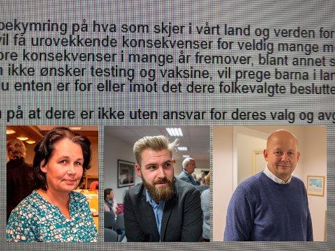 E-POST-KAOS: På selveste 17. mai ble de elektroniske postkassene til ordførerene Anne Hagenborg (Søndre Land), Stian Olafsen (Vestre Toten) og Torvild Sveen (Gjøvik) fylt opp av post fra covid- og vaksineskeptikere.
