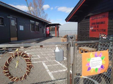 STENGER: En avdeling på barnehagen til Sit Studentsamskipnaden ved NTNU på Gjøvik ble stengt torsdag, da et barn i barnehagen er bekreftet smittet av covid-19. Hans far er også smittet.