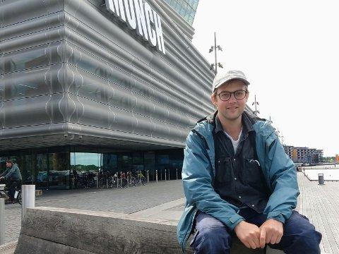 AVBREKK: Å være med å sette i stand Munchmuseet før åpningen i oktober har både vært givende og morsomt, men nå lengter Johannes Espedal tilbake til verkstedet sitt på Kapp!