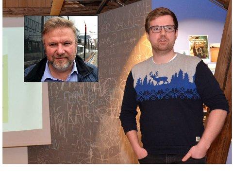 – Vi er vel med våre 20 ansatteen av de størrebedriftene i Søndre Land, konstaterer Magnus Nygård i Dokkadeltaet Nasjonale Våtmarkssenter. Stortingsrepresentant Bengt Fasteraune (innfelt) ser gjerne at de blir enda flere.