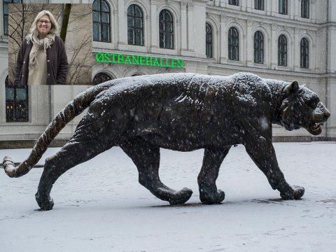 TIGEREN: Den 4,5 meter lange tigeren i Oslo er Elena Engelsens verk.