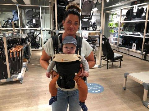 KORONABARN: Ane Beate Mosenget (37) er blant dem som har fått barn under koronapandemien. Lukas ble født 1. februar 2021.