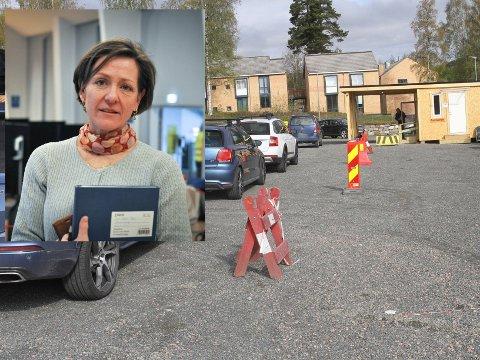 BEKYMRET: Kommuneoverlege Siri Fuglem Berg er bekymret for at få tester seg. Torsdag ble det meldt om to nye smittetilfeller i Gjøvik.