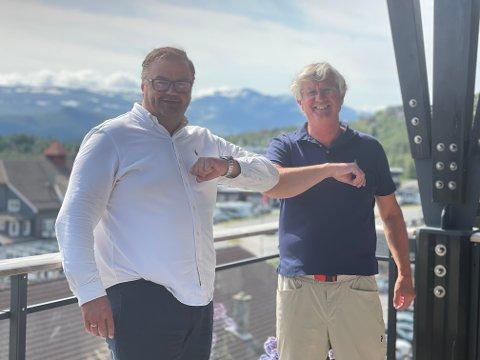 NYE PARTNERE: Dag Ramsberg og administrerende direktør Stig Reier Sandhaug i AlphaSpar AS.