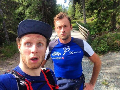 TEAM: Petter Skinstad og Petter Northug skal være på lag når de skal gå åtte timer på rulleski. De leter etter en kvinnelig makker.