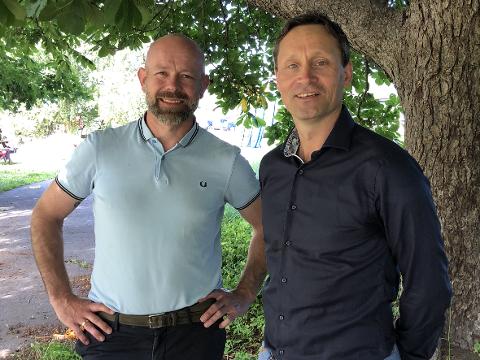 IT-PARTNERE: Finn Kristian Tokvam og Torgeir Algerøy går sammen om Easyplan AS.