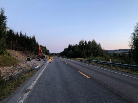 KONTROLLPLASSER: Ved Skjerven skog på fylkesvei 33 blir det kontrollplasser langs veien.