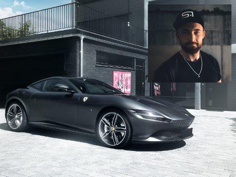 DAGLIGDAGS: En Ferrari Roma koster fra 2,8 millioner kroner, men det er dagligdagse modeller for bilfotograf Stian Furuseth.