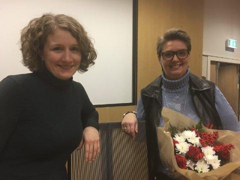 Overtar: Hanne Opdan, til høyre, vil ta over ordførerstolen etter Tuva Moflag, hvis sistnevnte velges inn på Stortinget neste høst