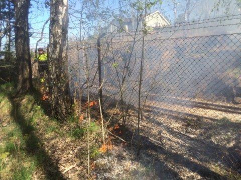 Det brantpå flere enn fire steder langs toglinjen. Foto: Ole Trana