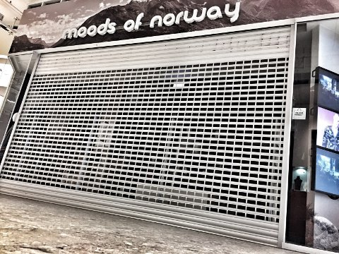 Moods-butikken på Ski storsenter er stengt.