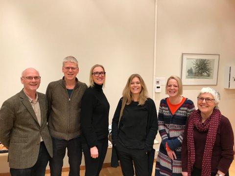 NYTT STYRE: Arne Bodin, Per Bratterud, Rikke Øen, Guri Langmyr Iochev, Kristin Stub og Eva Petterson er det nye styret i Human-Etisk Forbund Follo.