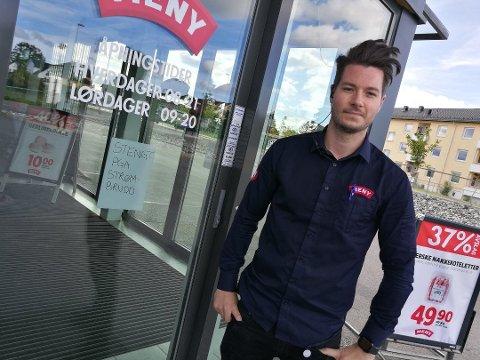 ANMELDER ALLTID: Butikktyverier er ikke noe stort problem hos Meny i Nordbyveien. Men når det først skjer, blir det anmeldt.