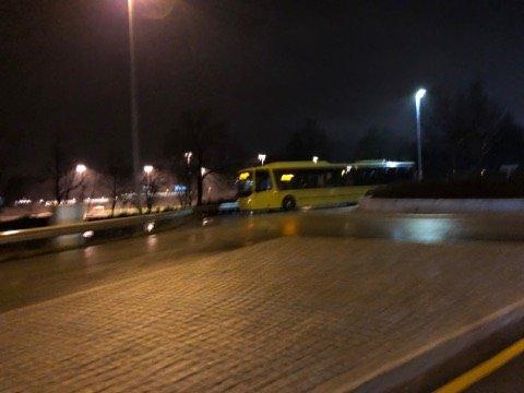 Dette bildet ble tatt av bussen like før klokken 17.30