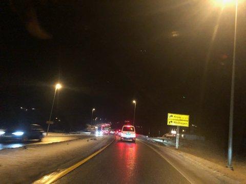KØ: Elgpåkjørselen førte til køer i på E18 i halvannen time etterpå.